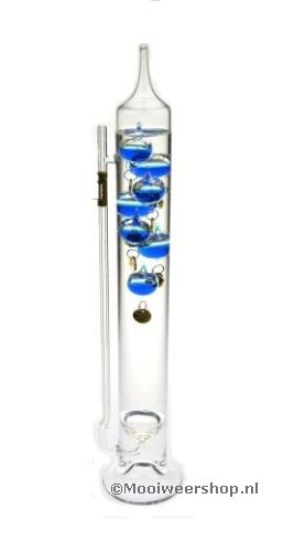 how to read a glass galileo thermometer